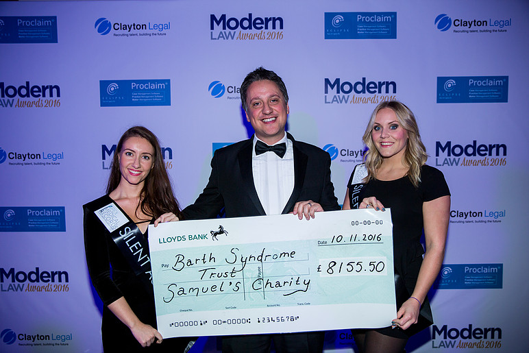 Fundraising at the Modern Law Awards 2016